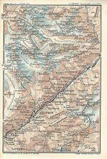 Carta geografica antica ALTO VALLESE WALLIS VALAIS  1914 Old antique map