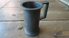 """Vintage Pewter by JR Small DECILITRE Mug with Handle 3.5"""""""