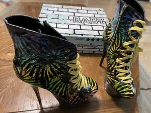 rare Too Fast Rat Baby Tie Dye platform heels shoes (size 10)