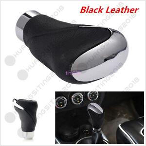 New Genuine Leather+ Metal Car Shift Gear Knob Head Manual & Automatic Universal