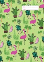 NEW Spencil Fancy Flamingo II Design A4 School Book Cover
