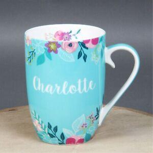 Charlotte Mug Ceramic Blue Floral Design 12 CM