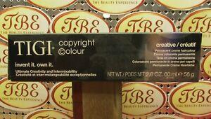 TIGI Creative Permanent Creme Haircolor (**CHOOSE YOUR COLOR**)