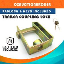 Heavy Duty Trailer CaravanCoupling HitchLock Padlock 2 Stage Locker w/ Keys