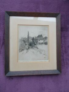 An Original Framed Signed Etching     by Hugh Paton    Printed  1870