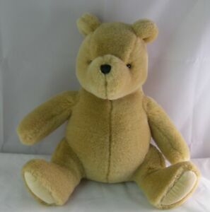 "Retired Gund Disney Plush 10"" Luxe Honey Gold Classic Pooh WInnie The Pooh Teddy"