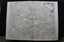Carte du Limousin et Auvergne et de la Marche par Robert de VAUGONDY 1757