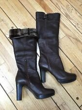 UGGS Tall Boots Brown Leather  S/N 1003556   Women's Size 7.5