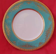 Vintage Minton Turqoise Heavy Gilding & Jewelled Cabinet Desert Plate Exquisite