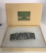 Swirl Artisan Made Pewter Barrette Hair Clip by Oberon Design New