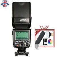 UK Godox  Ving V860II-N E-TTL HSS 1/8000 Speedlite Flash for Nikon+mini sofbox