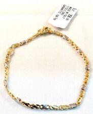 Bracciale UOMO in oro giallo e oro bianco 18kt 750/°°°