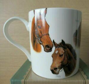 NEW & BOXED Famous Race Horses Horse Racing Fine China Coffee Tea Mug