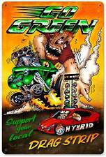 Hot Rod Drag Race Car Drag Strip Metal Sign Man Cave Garage Club Shop MLK012