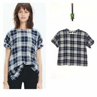 Madewell Oversized Tee Blouse Top in Emporia Plaid / Buffalo Check Size Large