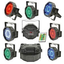 EFFETTO LUCE PAR SLIM LED RGBW FARO DMX RGB STROBO Con Staffe e Telecomando