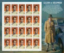 US: 1998 HUMPHREY BOGART - LEGENDS OF HOLLYWOOD; Sheet Sc 3152; 32 Cents Values