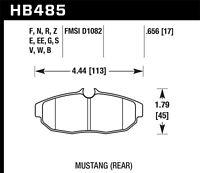 Disc Brake Pad Set-HPS Disc Brake Pad Rear Hawk Perf fits 05-14 Ford Mustang