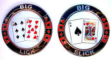 Big Slick Big Lick AK 6-9 Heavy Poker Card Guard Hand Protector NEW
