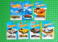 Hot Wheels - Ferrari - Lot of 7 - All Different - w/ 2007 & 2012 Treasure Hunt