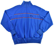 Vtg Adidas Track Jacket M L 80s 70s Blue Full Zip Mens Trefoil Retro Thin Stripe