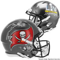 Tom Brady Signed Buccaneers SB LV Champs Replica Speed Full Size Helmet TRISTAR