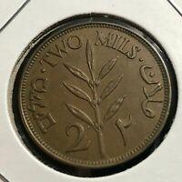 1927 PALESTINE 2 MILS BETTER GRADE COIN