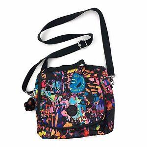 KIPLING Kichirou Womens Insulated Crossbody Lunch Bag Abstract Paint Splatter