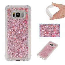 Shockproof Soft Liquid Quicksand Rose TPU Case Cover For Android Phone iPhone