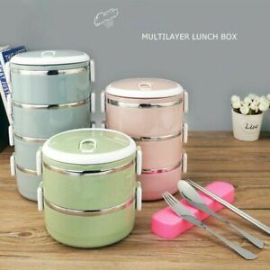 1/2/3/4 Layers Bento Lunch Box Thermal Insulated Stainless Steel Food Container