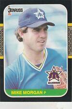 FREE SHIPPING-MINT-1987 Donruss Seattle Mariners Baseball Card #366 Mike Morgan