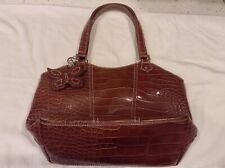 St Johns Bay Bag Brown Croc Embossed Free Shipping