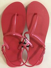 77465d00c945 New ListingWomens Flip Flops Thong Sandals Pink Rubber Adjustable Heel  Strap Size XL 11-12