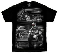 Dreaming Casually Lowrider Homies Chicano Art David Gonzales DGA T Shirt