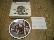 1982 Norman Rockwell Mothers Day Plate #7 The Cooking Lesson Knowles Collector