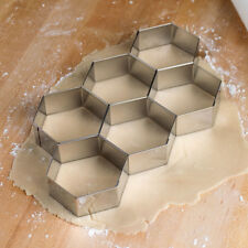 Ateco 6 Linked Hexagonal Biscuit Cookie Pastry Cutters -Stainless Steel