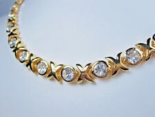 with Swarovski Crystals 0546 D'Orlan Gold Plated Xoxo Necklace