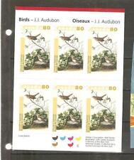 pk46336:Stamps-Canada #BK292 Audubon Birds 6 x 80 cent Booklet - MNH