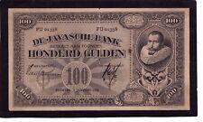 Netherlands Indies 100 Gulden 1927  P-73b   G+