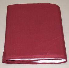 "Tailored Bed Skirt ~ 14"" Drop ~ Burgundy ~ Queen 60"" x 80"" **NEW**"