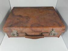 Valise ancienne de voyage en cuir avec SUPERBE PATINE vintage 50 cm