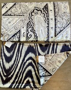 """NEW TWO POTTERY BARN SILK DEMI PAISLEY PILLOW COVER SHAMS W/ TAGS 16"""" X 26"""