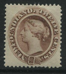 Newfoundland QV 1865 12 cents mint o.g. hinged