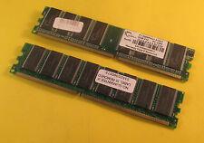 2X G.Skill F1-3200PHU1-512NT 512MB PC3200 / DDR400 RAM Modul DIMM 184-pol.