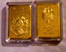 German Prussia Kaiser Gold Clad Coin Bar Royal Hohenzollern Coronation Memorial
