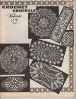 Vintage Crochet Pattern Book Crochet Doilies Volume 17 43 Pgs 1979 Soft Cover