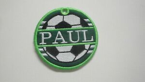 Personalized Bag Tag-Soccer Ball-Embroidered with Your Name-Great Gift Idea
