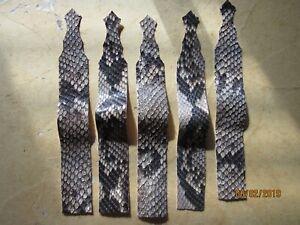 5 SOFT GRAY  PYTHON STRIPS Snake Skin, Belts Makers,Pen Makers,Watch Straps