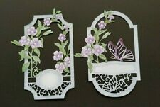 Die Cut Tattered Lace Joyful Jasmine Flower Scene Frame Card Topper
