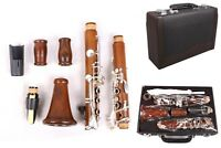 Yinfente Professional Rosewood Clarinet Bb key Clarinet Silver Plated Key Case